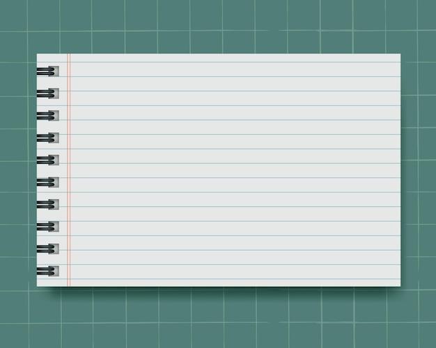 Ein notizpapier mit grünem hintergrund