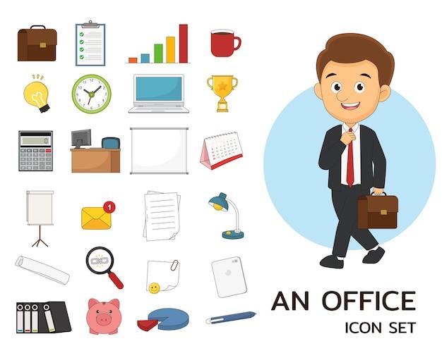 Ein office-icon-set
