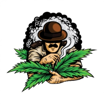 Ein offizier mit marihuana