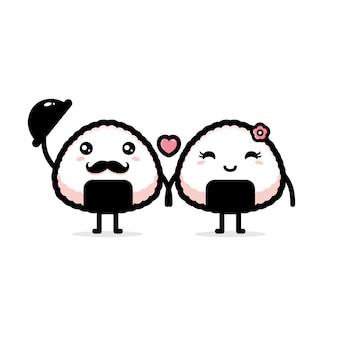 Ein paar onigiri-illustration