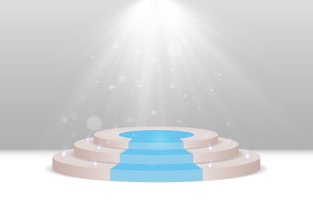 Ein podest oder eine plattform zur ehrung der gewinner vector illustration