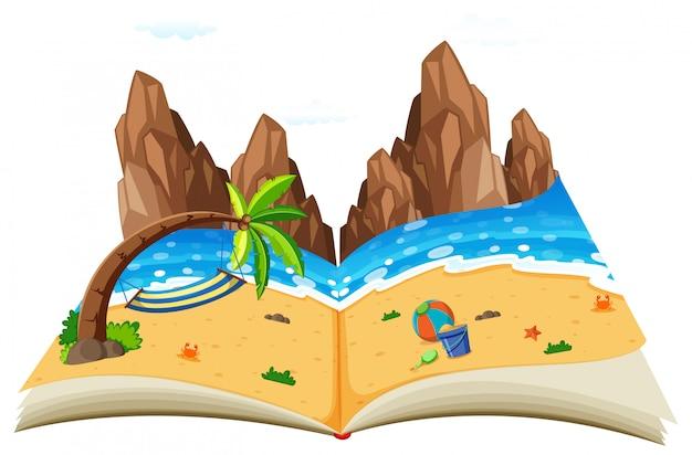Ein pop-up natürliches meerblickbuch