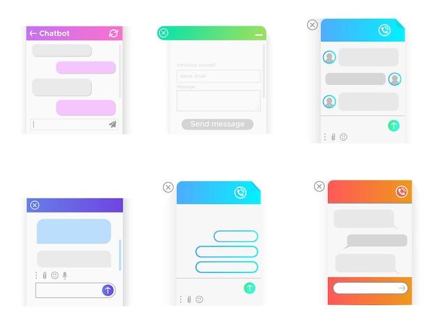 Ein pop-up-online-fenster, um dem benutzer zu helfen. die messenger-fenster. chatbot zur kommunikation in der mobilen smartphone-app und auf der website.