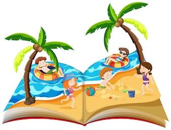 Ein Popup-Buch mit Sommerferien