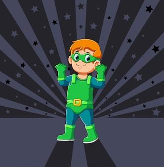 Ein power-superhelden-junge