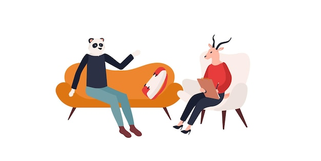 Ein psychologe wird ihnen zuhören und ihnen bei der lösung ihres problemdesigns helfen.