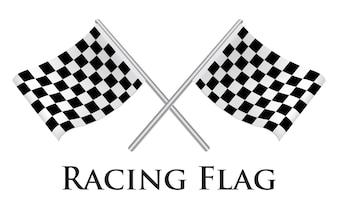 Ein Racing Flag Vektor