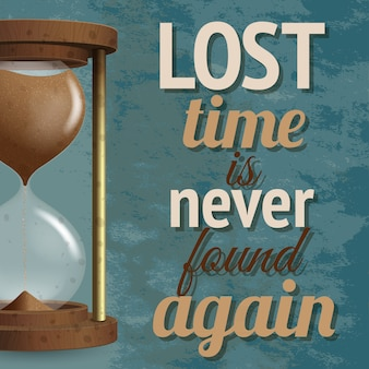 Ein realistischer countdown für die sanduhr-stoppuhr mit verlorener zeit wird nie wieder gefunden