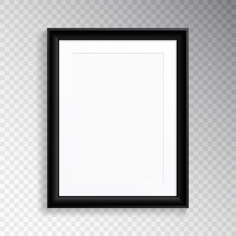 Ein realistischer schwarzer rahmen für fotografie oder malerei.