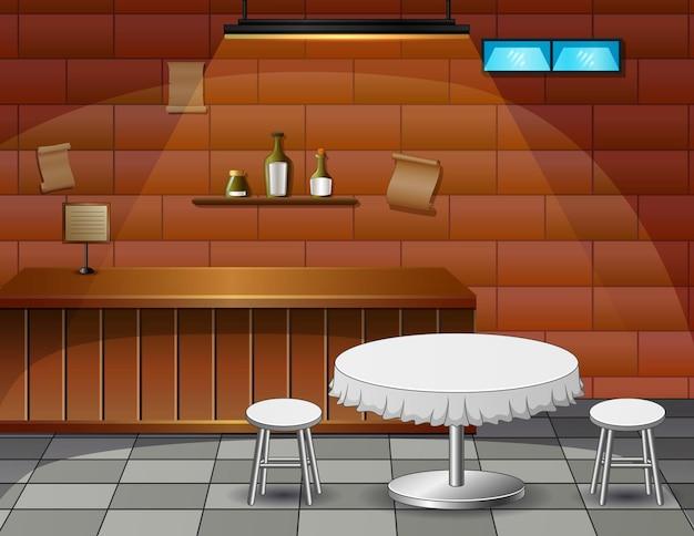 Ein romantisches date in einer caféillustration