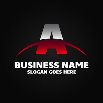 Ein rot und grau business name