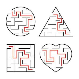 Ein satz labyrinthe arbeitsblatt für kinder