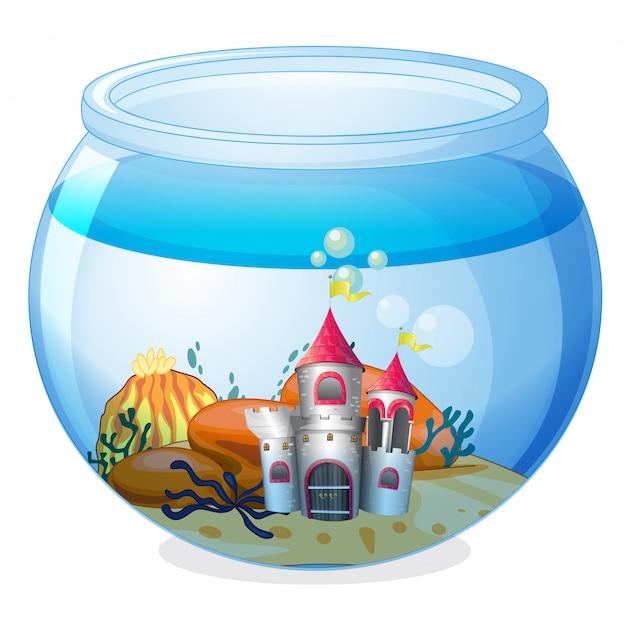 Ein schloss in einem aquarium