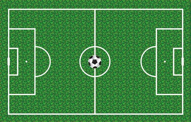 Ein schöner ball und grünes gras