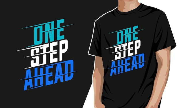 Ein schritt voraus - grafisches t-shirt für den druck
