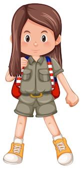 Ein scout-charakter mit langem haar