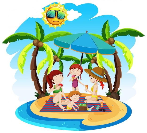 Ein sommer strandurlaub