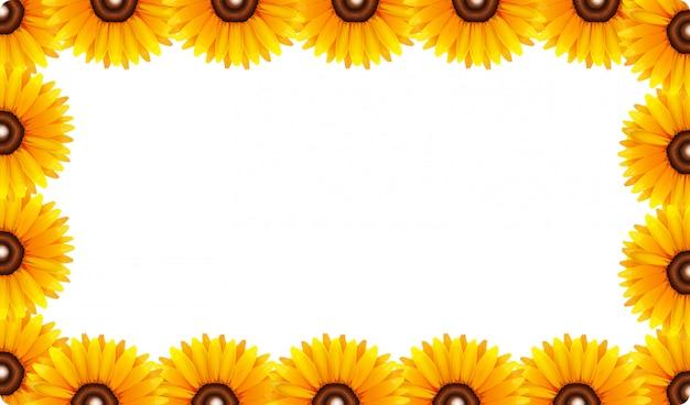 Ein sonnenblumenrahmen