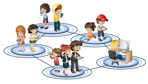 Ein soziales netzwerk