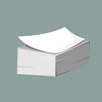 Ein stapel papier. vektorillustration im flachen stil
