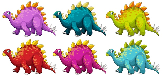 Ein stegosaurus dinosaurier-cartoon-charakter