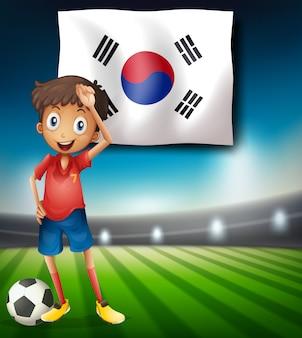 Ein südkorea-fußballspieler