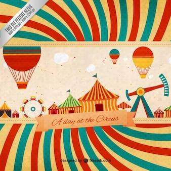 Ein tag im zirkus im vintage-stil