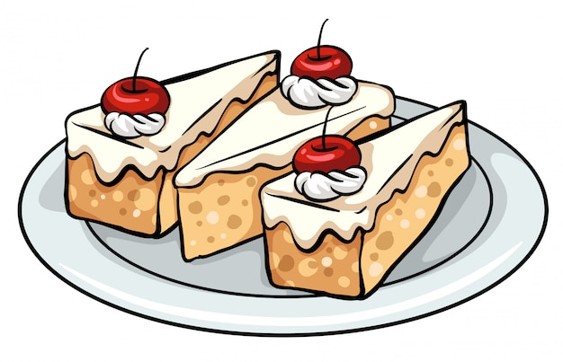 Ein teller mit kuchen