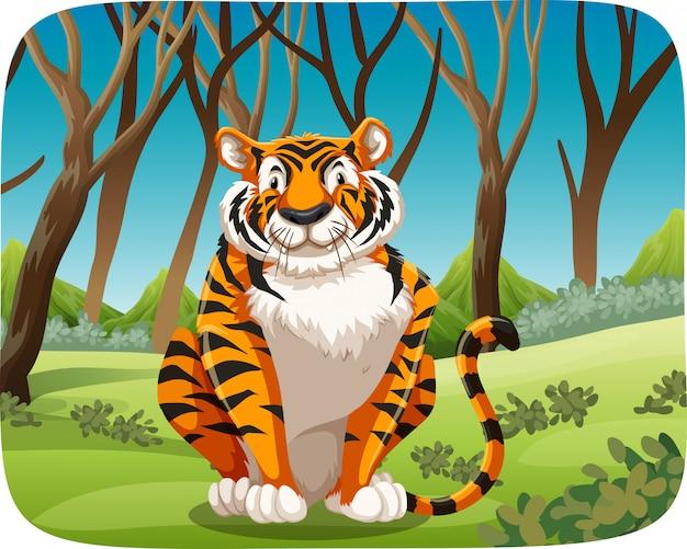 Ein tiger im wald
