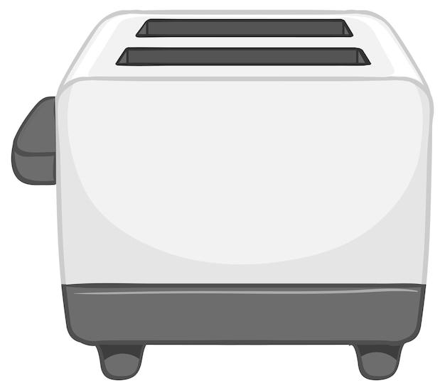 Ein toaster auf weißem hintergrund Kostenlosen Vektoren