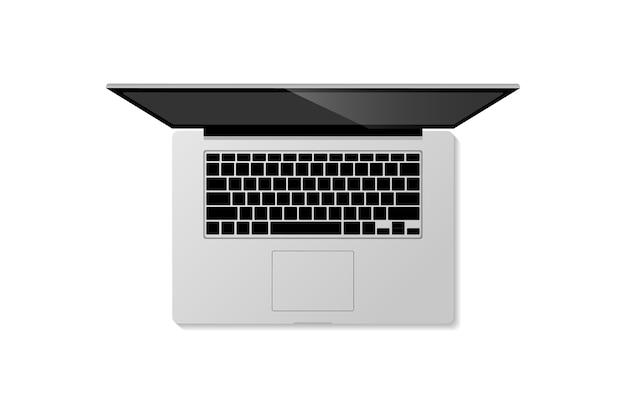 Ein tragbarer laptop, der es leicht macht Premium Vektoren