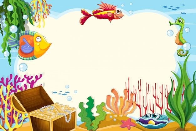 Ein unterwasserrahmenhintergrund
