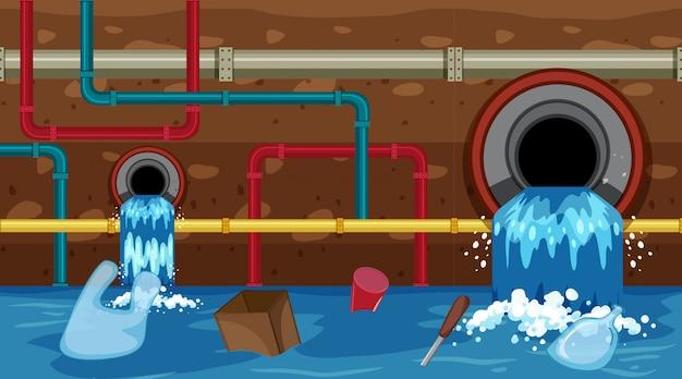 Ein vektor des abwassers