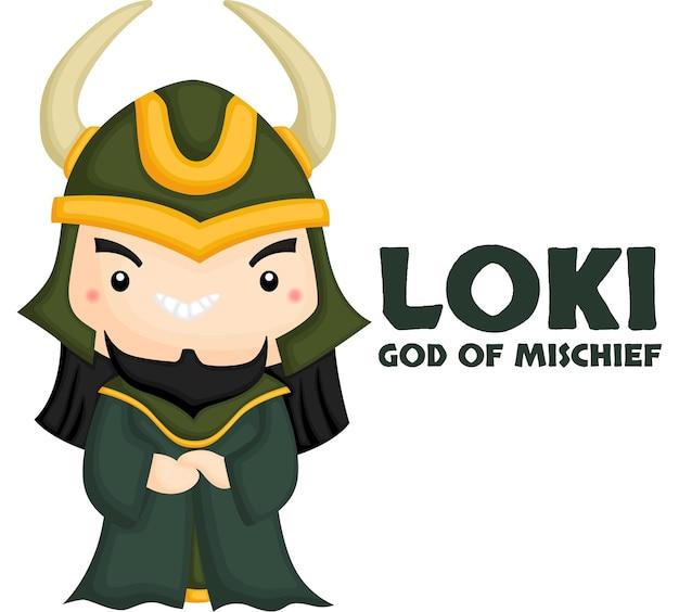 Ein vektor von loki aus der nordischen mythologie
