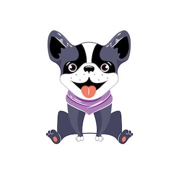 Ein vektorbild eines boston-terriers