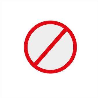 Ein verbotenes symbol auf weißem hintergrundvektorillustration