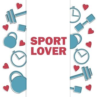 Ein verkaufsbanner für einen fitnessclub und ein fitnessstudio. zertifikat bieten rabatte für sport - sportliebhaber