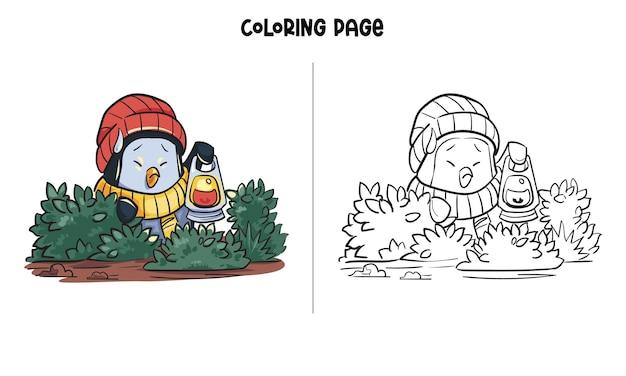 Ein verlorener pinguin im dschungel
