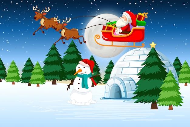 Ein weihnachtsschlitten