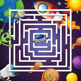 Ein weltraum-labyrinth-spiel
