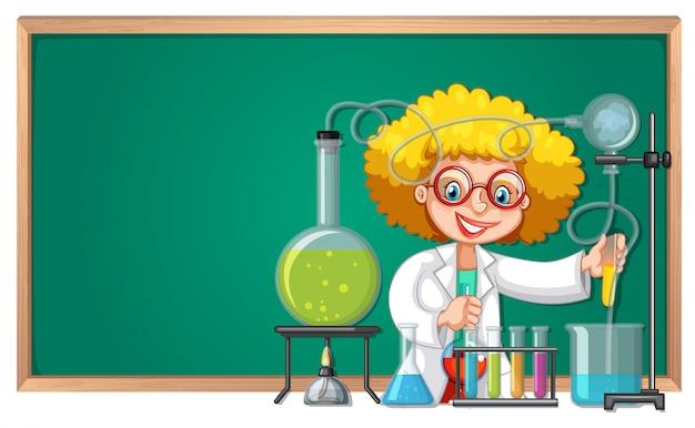 Ein wissenschaftliches experiment im labor