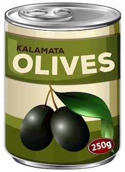 Ein zinken kalamata schwarzer oliven