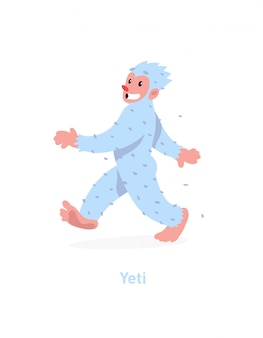 Eine abbildung einer karikatur yeti
