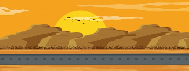 Eine arizona-straßenlandschaft