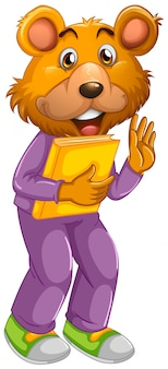 Eine bären-cartoon-figur