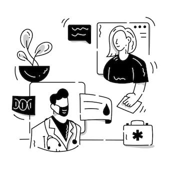Eine bearbeitbare glyphenillustration von medizinischen zeichen für online-konsultationen