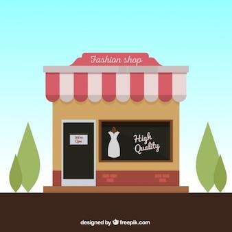 Eine boutique, außenansicht