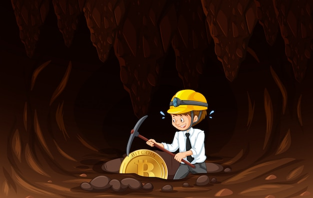 Eine büroangestellter-bergbau-münze