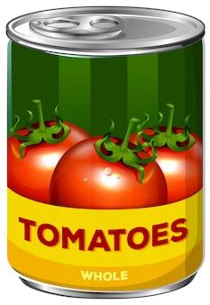 Eine dose ganze tomaten