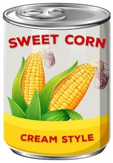 Eine dose mais